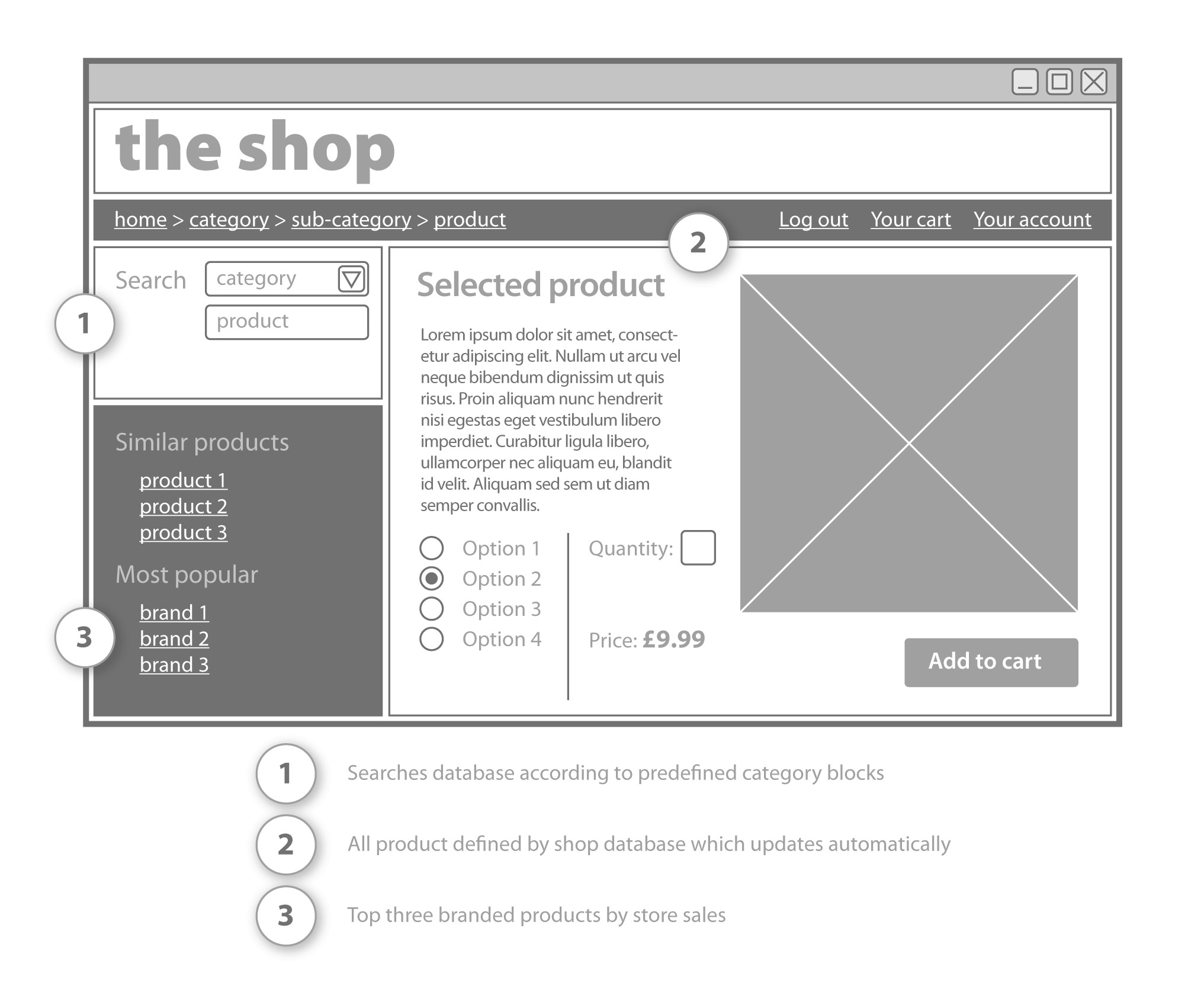 eCommerce Wireframe Example